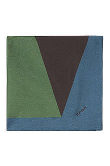Z ZEGNA Geometric shapes pocket square