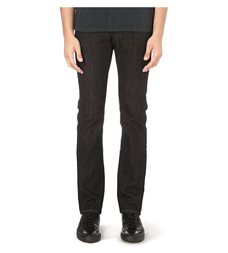 Z ZEGNA Slim-fit straight stretch-denim jeans (Black