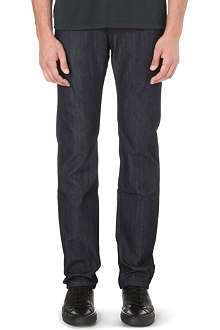 Z ZEGNA Slim-fit straight stretch-denim jeans