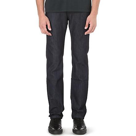 Z ZEGNA Slim-fit straight stretch-denim jeans (Indigo