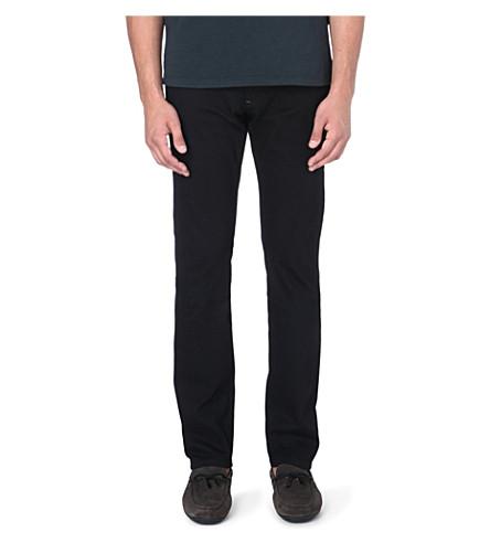 Z ZEGNA Slim stretch-denim jeans (Black