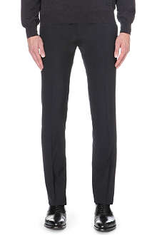 Z ZEGNA Stretch-wool slim-fit trousers