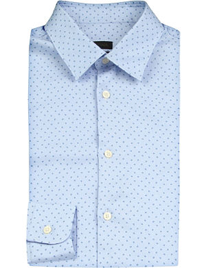 Z ZEGNA Floral-jacquard slim-fit cotton shirt