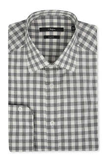 Z ZEGNA Checked brushed-cotton shirt
