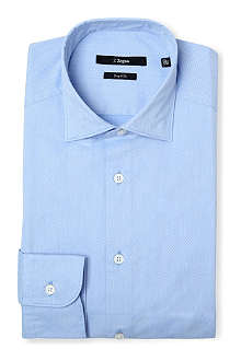 Z ZEGNA Dobbie diamond-jacquard single-cuff shirt