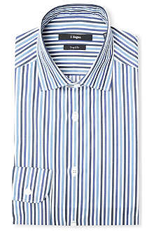 Z ZEGNA Bengal striped slim-fit single-cuff shirt