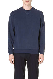 Z ZEGNA Pocket-sleeve cotton sweatshirt