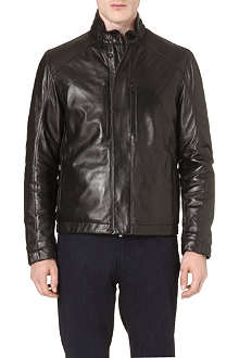 Z ZEGNA Stand-collar leather jacket