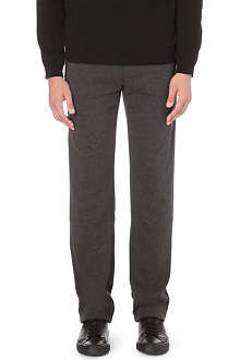 Z ZEGNA Contrast-trim jersey jogging bottoms