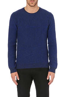 Z ZEGNA Bi-coloured moss-stitch jumper