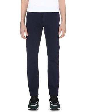 Z ZEGNA Straight stretch-cotton trousers
