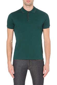 Z ZEGNA Contrast-trim cotton-piqué polo shirt