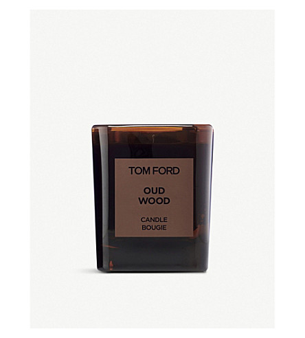 TOM FORD Oud wood scented candle and holder