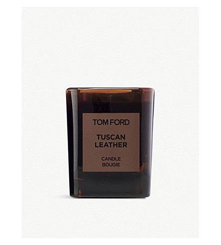TOM FORD Tuscan leather scented candle and cover