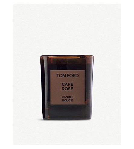 TOM FORD Café Rose scented candle and cover