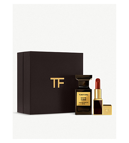 TOM FORD White Suede gift set