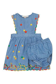 STELLA MCCARTNEY Embroidered denim dress 3-24 months