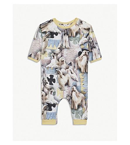 MOLO Francine dog-print stretch-cotton sleepsuit 3-18 months (Yellow