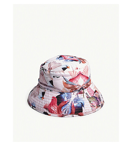 MOLO Nadia Mirror Birds print bucket hat (Pink