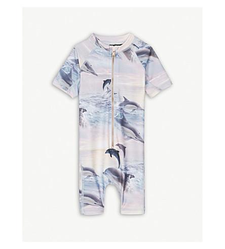 MOLO Neka dolphin swim suit 9-36 months (Blue