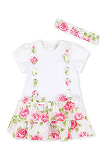 EMILE ET ROSE Floral dress with headband 3-24 months