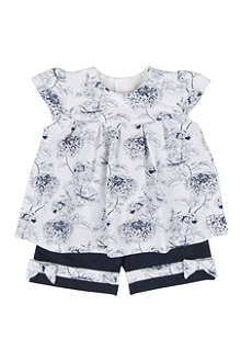 EMILE ET ROSE Floral top and trousers set 1-12 months