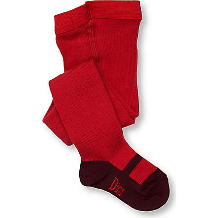 BABY DIOR Shoe detail tights 0-3 years (Red