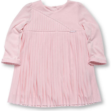 BABY DIOR Pleated jersey dress 3-36 months (Pink