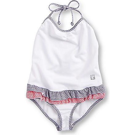 FENDI Frill swimming costume 14-16 years (White