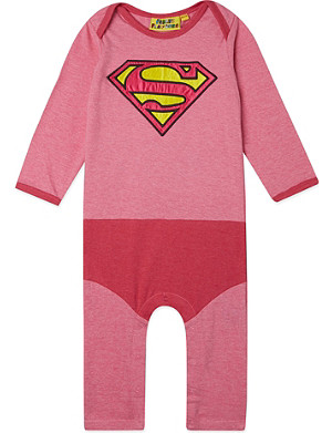 FABRIC FLAVOURS Supergirl babygrow 0-18 months