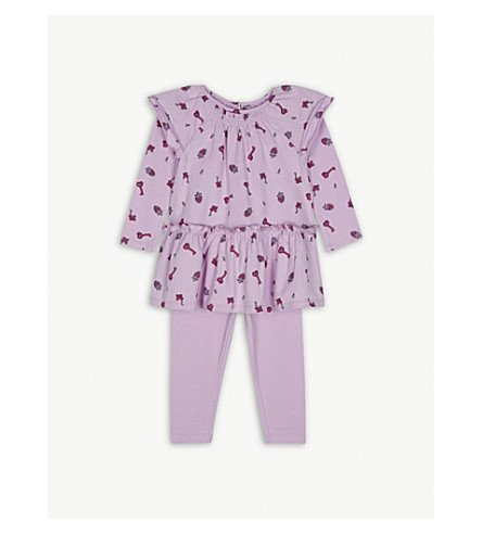 JUICY COUTURE Printed cotton-blend dress and leggings set 3-24 months (Pink/multi