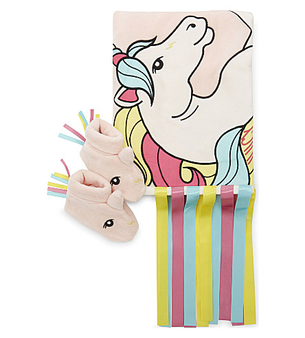 JUICY COUTURE Unicorn velour gift set 0-12 months (Powder+pink