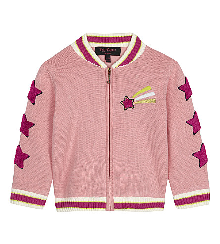 JUICY COUTURE Unicorn doodles zip-through bomber jacket 3-24 months (Pink+chiffon