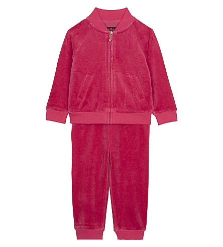 JUICY COUTURE Logo velour tracksuit 3-24 months (Flamingo+pink