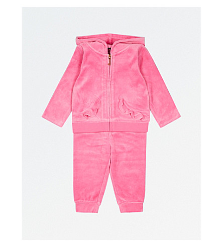 JUICY COUTURE Glitter logo velour tracksuit 3-24 months (Highlighter
