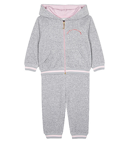 JUICY COUTURE Sunset cotton tracksuit set 6-24 months (Heather+cozy