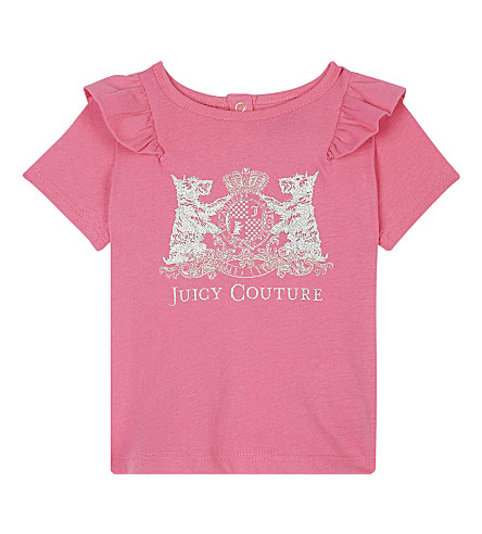 JUICY COUTURE Scottie Crest ruffle T-shirt 3-18 months (Highlighter
