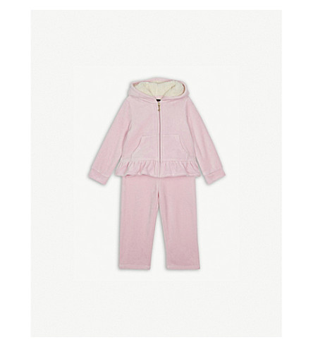 JUICY COUTURE Pansy velour tracksuit set 3-24 months (Begonia