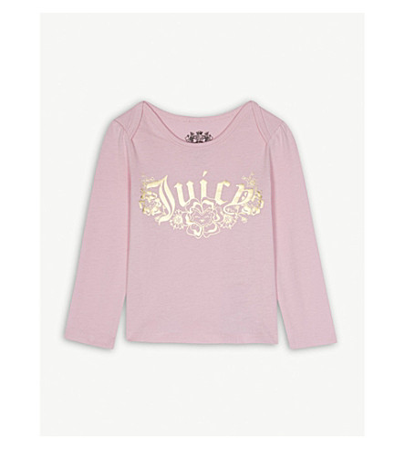 JUICY COUTURE Pansy Party cotton top 3-24 months (Begonia