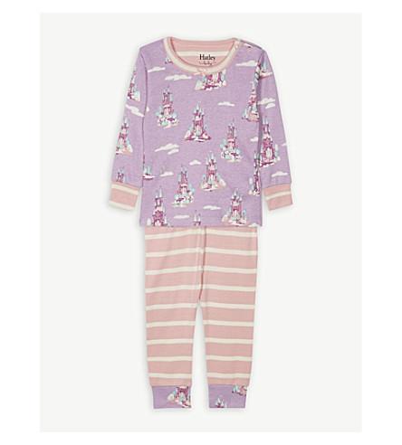 HATLEY Enchanted castle print cotton pyjamas 6-24 months (Early+lilac