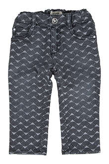 ARMANI JUNIOR Logo print jeans 6 months-2 years