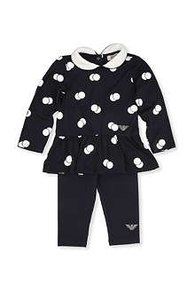 ARMANI JUNIOR Two piece polka dot set 3-24 months