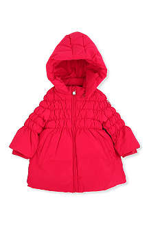 ARMANI JUNIOR Hooded padded coat 3-24 months