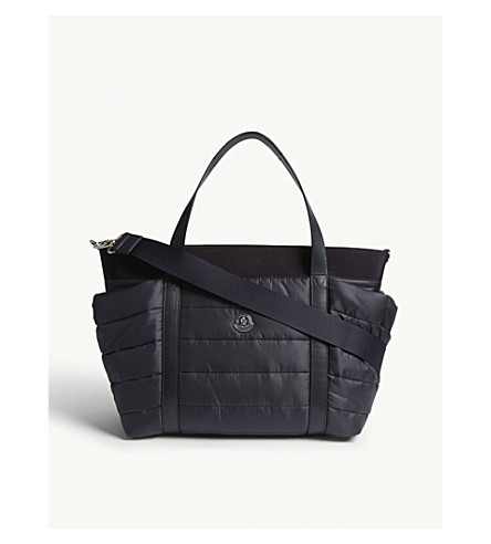 MONCLER Quilted baby changing bag (Navy