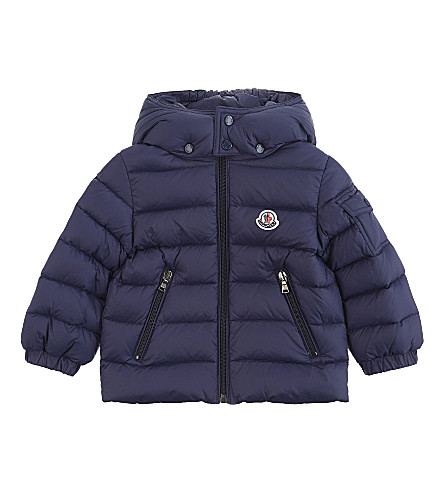 MONCLER Jules down puffa jacket 6-36 months (Navy