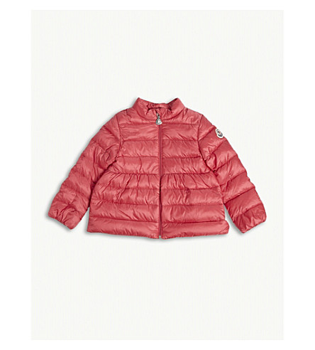 MONCLER Joelle flare puffa jacket 6-24 months (Mid+pink