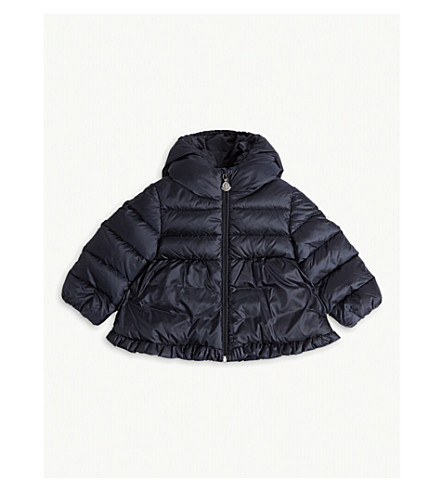 MONCLER Odile quilted puffer jacket 6-36 months (Navy