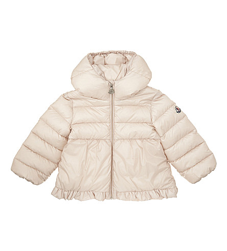 MONCLER Odile quilted puffer jacket 6-36 months (Pale+pink