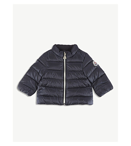 MONCLER Quilted jacket 3-36 months (Navy