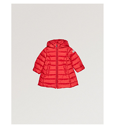MONCLER Majeure puffa coat 6-36 months (Red